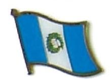 GUATEMALA - Wholesale lot 12 flag hat lapel pins ef098