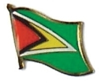 GUYANA - Wholesale lot of 12 flag hat lapel pins ef102