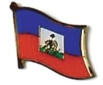 HAITI - Wholesale lot of 12 flag hat lapel pins ef103