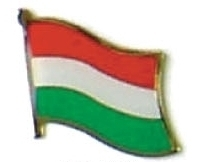 HUNGARY - Wholesale lot of 12 flag hat lapel pins ef106