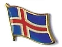 ICELAND - Wholesale lot of 12 flag hat lapel pins ef107