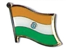INDIA - Wholesale lot of 12 flag hat lapel pins ef108