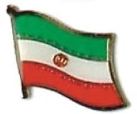 IRAN - Wholesale lot of 12 flag hat lapel pins ef110