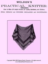 c1885 Victorian Era Knitting Pattern Book Fingerless Mittens Shawl Gloves Hood 1 - $9.99