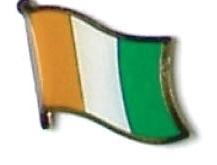 IVORY COAST - Wholesale lot of 12 flag lapel pins ef119