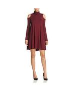 Robert Michaels Womens Wine Red Cold Shoulder Turtleneck Shirt Dress Siz... - $29.65