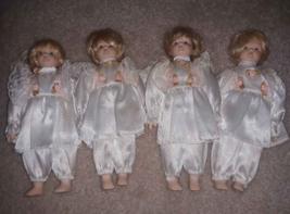 """Lot 4 Vintage Porcelain Dolls 8"""" Soft Body - $4.65"""