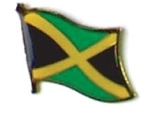 JAMAICA - Wholesale lot of 12 flag hat lapel pins ef120