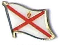 JERSEY - Wholesale lot of 12 flag hat lapel pins ef122