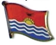 KIRIBATI - Wholesale lot 12 flag hat lapel pins ef127