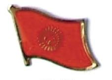 KYRGYZSTAN - Wholesale lot of 12 flag lapel pins ef131
