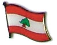 LEBANON - Wholesale lot of 12 flag hat lapel pins ef134
