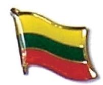LITHUANIA - Wholesale lot 12 flag hat lapel pins ef139