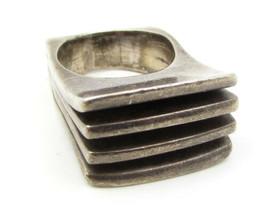 Vintage 925 Sterling Silver - Artistic Designer Style Band Ring Sz 7 - R... - $102.09