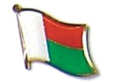 MADAGASCAR - Wholesale lot of 12 flag lapel pins ef143