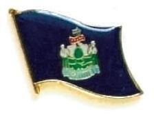 MAINE - Wholesale lot 12 state flag lapel pins ep520