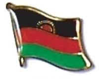 MALAWI - Wholesale lot of 12 flag hat lapel pins ef145
