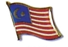 MALAYSIA - Wholesale lot 12 flag hat lapel pins ef146