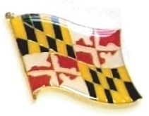 MARYLAND - Wholesale lot 12 state flag lapel pins ep521