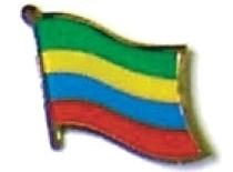 MAURITIUS - Wholesale lot 12 flag hat lapel pins ef152