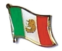 MEXICO - Wholesale lot 12 mexican flag lapel pins ef154