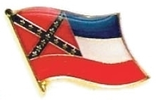 MISSISSIPPI - Wholesale lot 12 state flag pins ep525