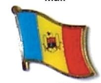 MOLDOVA - Wholesale lot of 12 flag hat lapel pins ef156