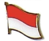 MONACO - Wholesale lot of 12 flag hat lapel pins ef157