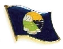 MONTANA - Wholesale lot 12 state flag lapel pins ep527