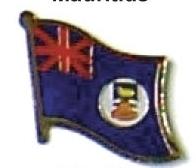 MONTSERRAT - Wholesale lot of 12 flag lapel pins ef159
