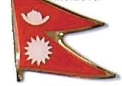 NEPAL - Wholesale lot of 12 flag hat lapel pins ef165