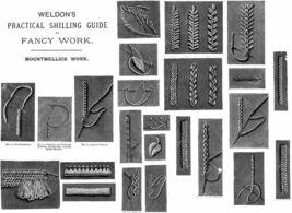 c1885 Victorian Mountmellick Book Embroidery Stitch Guide DIY Art Neuvea... - $9.99