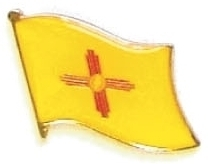 NEW MEXICO - Wholesale lot 12 state flag pins ep532