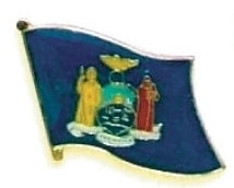 NEW YORK - Wholesale lot 12 state flag lapel pins ep533