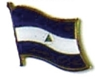NICARAGUA - Wholesale lot 12 flag hat lapel pins ef169