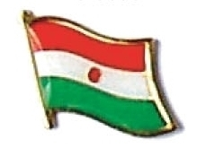 NIGER - Wholesale lot of 12 flag hat lapel pins ef170