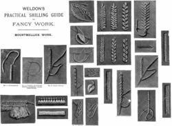 c1885 Victorian Mountmellick Book Embroidery Stitch Guide DIY Art Neuveau Guide
