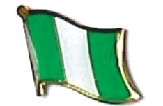 NIGERIA - Wholesale lot of 12 flag hat lapel pins ef171 image 1