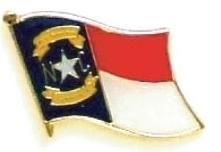 NORTH CAROLINA - Wholesale lot 12 state flag pins ep534