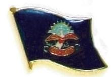 NORTH DAKOTA - Wholesale lot 12 state flag pins ep535