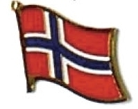 NORWAY - Wholesale lot of 12 flag hat lapel pins ef174