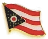 OHIO - Wholesale lot 12 state flag lapel pins ep536