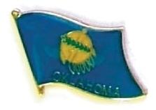 OKLAHOMA - Wholesale lot 12 state flag lapel pins ep537