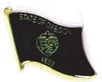 OREGON - Wholesale lot 12 state flag lapel pins ep538