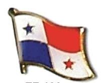PANAMA - Wholesale lot of 12 flag hat lapel pins ef182