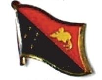 PAPUA NEW GUINEA - Wholesale 12 flag lapel pins ef183