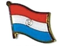 PARAGUAY - Wholesale lot 12 flag hat lapel pins ef185