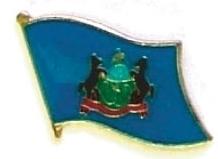 PENNSYLVANIA - Wholesale lot 12 state flag pins ep539