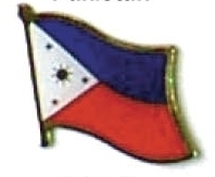 PHILIPPINES - Wholesale lot of 12 flag lapel pins ef187