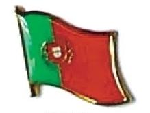 PORTUGAL - Wholesale lot 12 flag hat lapel pins ef191
